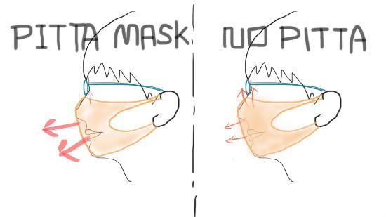 pittaマスク比較画像