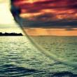 サングラスと海