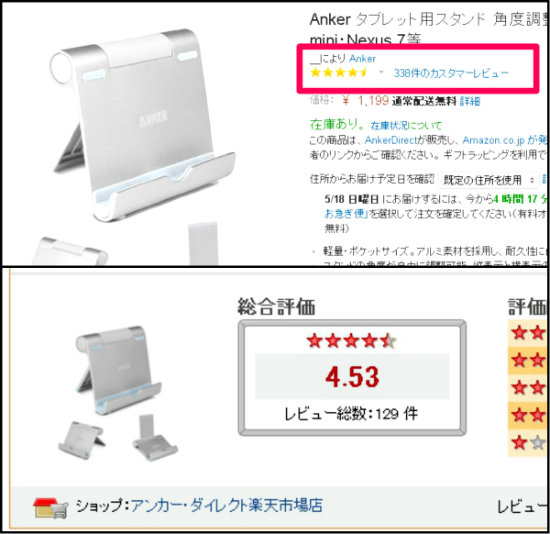 ANKERタブレット用スタンド評価