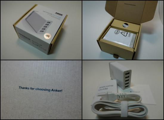 anker40w5port Packaging