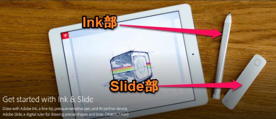 ink部slide部