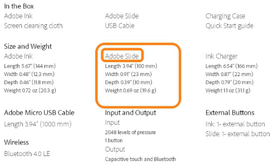 adobe slide spec