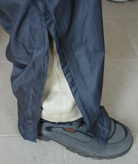ベルグテックズボンの裾