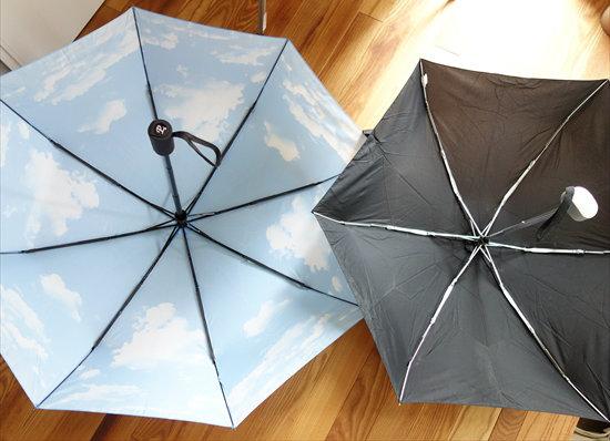 自動開閉折りたたみ傘と3段傘比較01