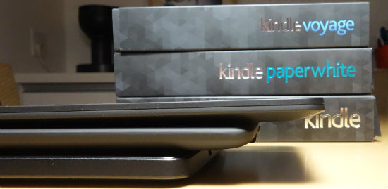 Kindle3段重ね