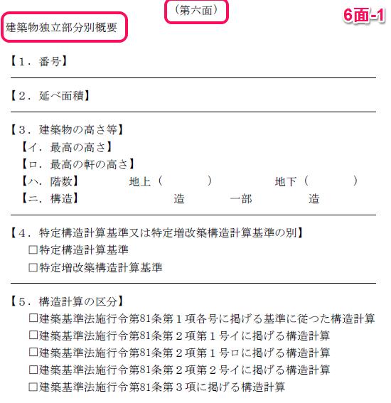 申請書6面の1