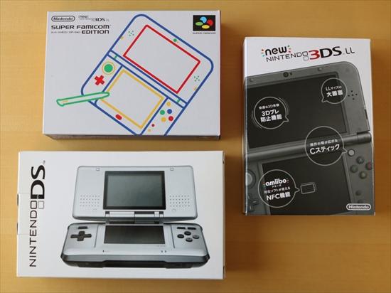 new3DSLLスーパーファミコンエディション箱比較