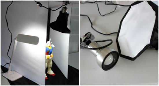撮影ボックス照明