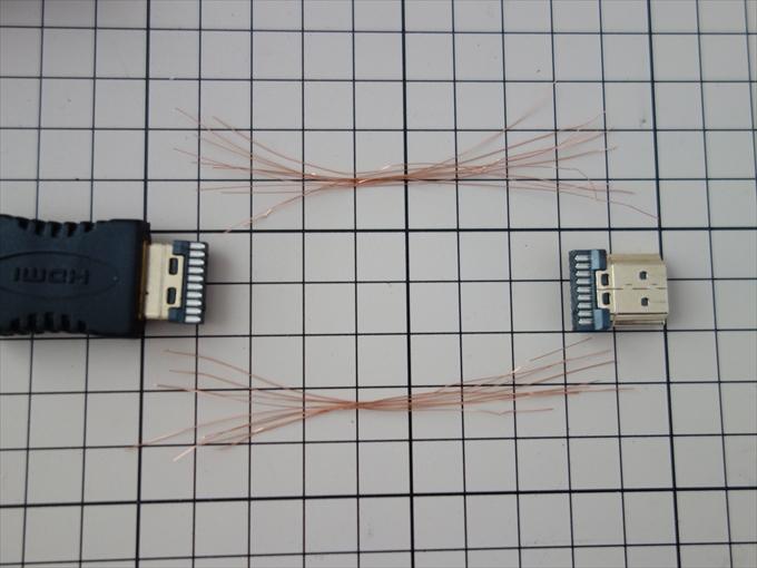 HDMIケーブル自作1